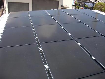 屋根設置太陽光発電所